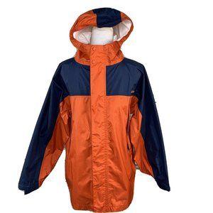 LL Bean Boys jacket sz L 14-16 nylon orange blue